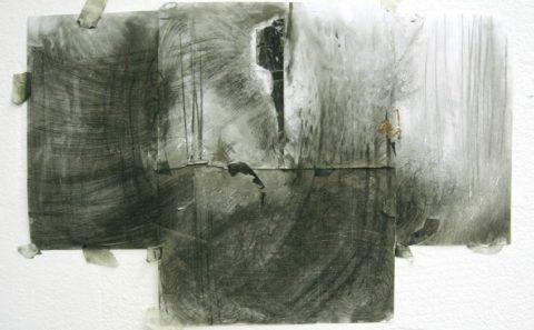 Charcoal, 5 drawings serie
